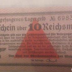 Billetes extranjeros: 10 REICHSMART 1939/1945 GUTFEBEIN UBER 10 ALEMANIA NAZI. Lote 194248921