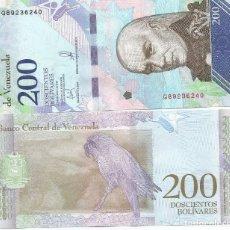 Billetes extranjeros: BILLETE DE VENEZUELA 200 BOLIVARES 2018 SC. Lote 194253592