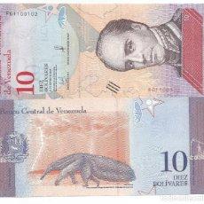 Billetes extranjeros: BILLETE DE VENEZUELA 10 BOLIVARES 2018 SC. Lote 194253627