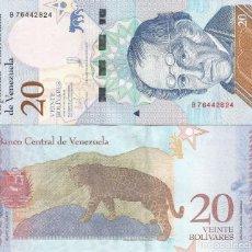 Billetes extranjeros: BILLETE DE VENEZUELA 20 BOLIVARES 2018 SC. Lote 194253633