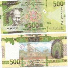 Billetes extranjeros: BILLETE DE GUINEA 500 FRANCOS 2018 SC. Lote 194253678
