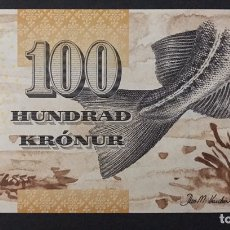 Billetes extranjeros: CMC ISLAS FEROE (FAEROE ISLANDS) 100 CORONAS 2011 PICK 30 SC. Lote 194268941