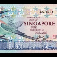 Billetes extranjeros: SINGAPUR SINGAPORE 100 DOLLARS 1977 PICK 14 EBC XF. Lote 194311691