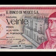Billetes extranjeros: MÉXICO 20 PESOS 1977 PICK 64D SERIE DM SC UNC. Lote 194329304