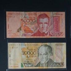 Billetes extranjeros: CHOLLO...BILLETES DE VENEZUELA. Lote 194333712