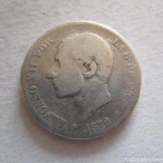 Billetes extranjeros: ALFONSO XII . 2 PESETAS DE PLATA . AÑO 1879. Lote 194359227