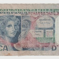 Billetes extranjeros: ITALIA- 50000 LIRAS-1977. Lote 194398562