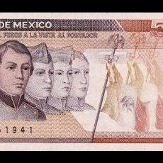 Billetes extranjeros: MÉXICO 5000 PESOS 1989 PICK 88C SERIE KM SC UNC. Lote 194423167