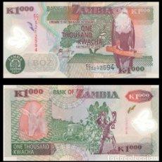 Billetes extranjeros: ZAMBIA 1000 KWACHA 2004 PIK 44C S/C. Lote 194500505