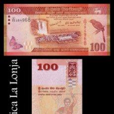 Billetes extranjeros: SRI LANKA 100 RUPEES 2010 PICK 125A SC UNC. Lote 194505383