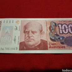 Billets internationaux: ARGENTINA 100 AUSTRALES SC. Lote 194510542