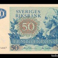 Billetes extranjeros: SUECIA SWEDEN 50 KRONOR KING GUSTAV III 1984 PICK 53D SC UNC. Lote 194576591