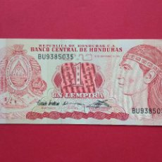 Billetes extranjeros: BILLETE BANCO CENTRAL DE HONDURAS 1 UN LEMPIRA AÑO 1992. Lote 194590813