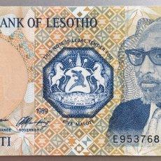 Billetes extranjeros: LESOTHO. LESOTO. 5 MALOTI. Lote 194647651