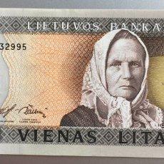 Billetes extranjeros: LITUANIA. 1 LITA. Lote 194647677