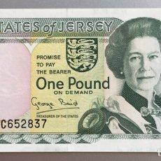 Billetes extranjeros: JERSEY. 1 LIBRA. Lote 194647710