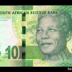 Billets internationaux: SUDAFRICA SOUTH AFRICA 10 RAND MANDELA 2016 PICK 138B SC UNC. Lote 194657591