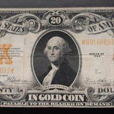 Billetes extranjeros: $ 20, 1922, ¡RARO!. Lote 194698260