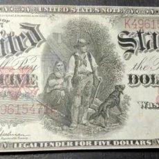 Billetes extranjeros: 5 DÓLARES ESTADOUNIDENSES 1907. Lote 194698520