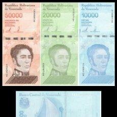 Billetes extranjeros: VENEZUELA SET 10000 20000 & 50000 BOLIVARES 2019 S/C. Lote 194699135