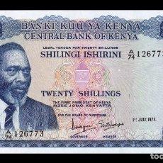 Billetes extranjeros: KENIA KENYA 20 SHILLINGS 1973 PICK 8D SC UNC. Lote 194699907