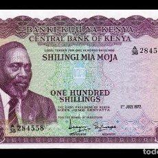 Billetes extranjeros: KENIA KENYA 100 SHILLINGS 1972 PICK 10C SC UNC . Lote 194701665