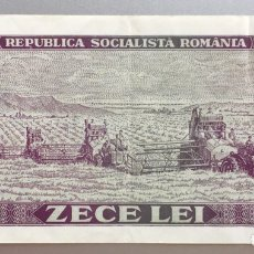 Billetes extranjeros: RUMANIA. 10 LEI 1966. Lote 194732190