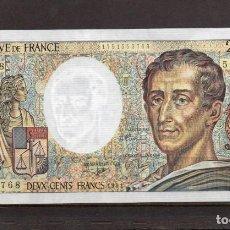 Billetes extranjeros: FRANCIA BILLETE DE 200 FRANCOS 1991, S/C, . Lote 194859092