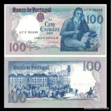 Billetes extranjeros: PORTUGAL 100 ESCUDOS 1981 - P-178B.5B MANUEL MARIA BARBOSA UNC.. Lote 194859240