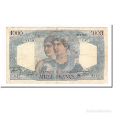 Billetes extranjeros: FRANCIA, 1000 FRANCS, MINERVE ET HERCULE, 1946, 1945-06-14, BC, FAYETTE:41.4. Lote 194859775
