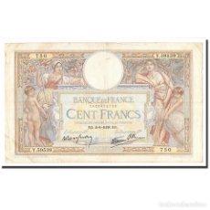 Billetes extranjeros: FRANCIA, 100 FRANCS, LUC OLIVIER MERSON, 1938, 1938-06-02, MBC, FAYETTE:25.21. Lote 194860318