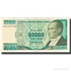 Billetes extranjeros: BILLETE, 50,000 LIRA, 1970, TURQUÍA, 1970-01-14, KM:204, SC. Lote 194864067