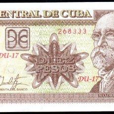 Billetes extranjeros: CUBA 10 PESOS 2017 - SIN CIRCULAR. Lote 194878092
