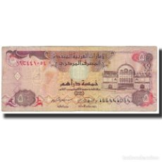 Billetes extranjeros: BILLETE, 5 DIRHAMS, 1995, EMIRATOS ÁRABES UNIDOS, KM:12B, BC. Lote 194880730