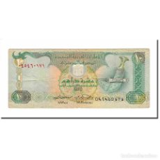 Billetes extranjeros: BILLETE, 10 DIRHAMS, 1998, EMIRATOS ÁRABES UNIDOS, KM:27C, MBC. Lote 194888037