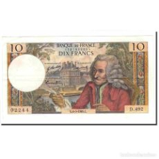 Billetes extranjeros: FRANCIA, 10 FRANCS, VOLTAIRE, 1969, 1969-05-08, SC, FAYETTE:62.38, KM:147C. Lote 194889822