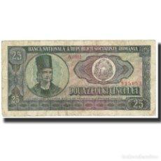 Billetes extranjeros: BILLETE, 25 LEI, 1966, RUMANÍA, KM:95A, MBC. Lote 194889833
