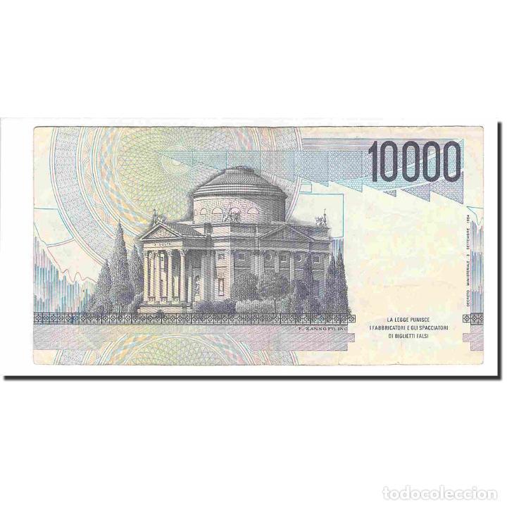 Billetes extranjeros: Billete, 10,000 Lire, 1984, Italia, 1984-09-03, KM:112c, MBC - Foto 2 - 194897952
