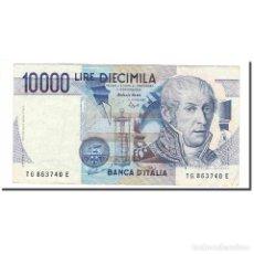 Billetes extranjeros: BILLETE, 10,000 LIRE, 1984, ITALIA, 1984-09-03, KM:112C, MBC. Lote 194897952