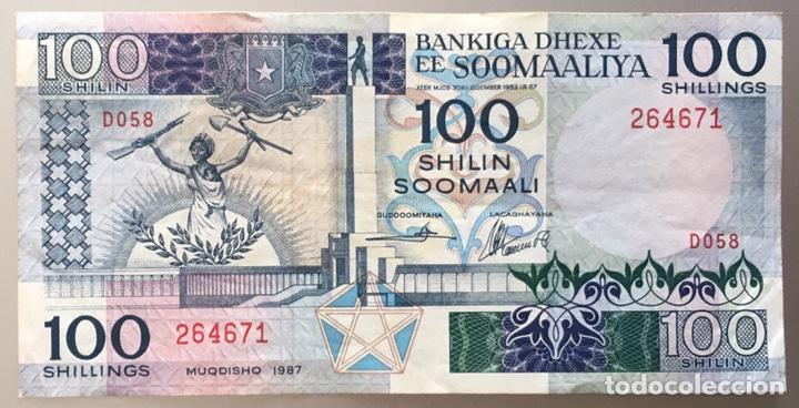 SOMALIA. 100 SHILLINGS 1987 (Numismática - Notafilia - Billetes Extranjeros)