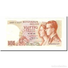 Billetes extranjeros: BILLETE, 50 FRANCS, 1966, BÉLGICA, 1966-05-16, KM:139, EBC+. Lote 194898618