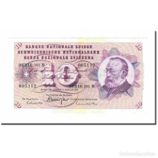 Billetes extranjeros: BILLETE, 10 FRANKEN, 1977, SUIZA, 1977-01-06, KM:45U, EBC. Lote 194904975
