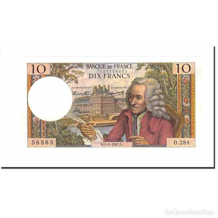 FRANCIA, 10 FRANCS, VOLTAIRE, 1967, 1967-01-05, SC, FAYETTE:62.24, KM:147B (Numismática - Notafilia - Billetes Extranjeros)