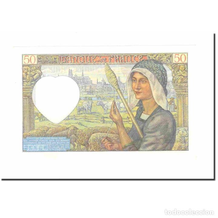 Billetes extranjeros: Francia, 50 Francs, Jacques Coeur, 1941, 1941-04-24, UNC, Fayette:19.9, KM:93 - Foto 2 - 194905065