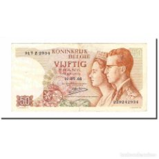 Billetes extranjeros: BILLETE, 50 FRANCS, 1966, BÉLGICA, 1966-05-16, KM:139, MBC+. Lote 194905480
