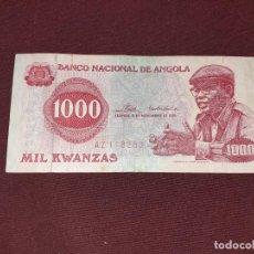 Billetes extranjeros: ANGOLA - 1000 KWANZAS 1976. Lote 194969782