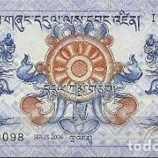Billetes extranjeros: BHUTAN - 1 NGULTRUM 2006 - SIN CIRCULAR - PLANCHA - BILLETES DEL MUNDO. Lote 194972543