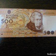 Billetes extranjeros: PORTUGAL-BILLETE 500 ESCUDOS-20-11-1987-PICK 180A-EBC+. Lote 194983391