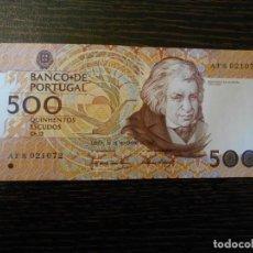 Billetes extranjeros: PORTUGAL-BILLETE 500 ESCUDOS-20-11-1987-PICK 180A-EBC+. Lote 194984117