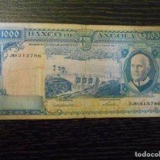 Billetes extranjeros: ANGOLA-BILLETE 1000 ESCUDOS-10-6-1962-PICK 96-MBC-. Lote 194987768